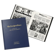 """This is the personalized book of New York Times articles that chronicles the gridiron exploits of a fan's favorite National Football League team. Procured from the archives of The Times, each book presents memorable highlights that span from your selected NFL team's formative years to today. Fans can revisit their team's celebrated games and star players from the """"Gray Lady's"""" unique perspective, from the Chicago Bears famed """"Monsters of the Midway,"""" to the Pittsburgh Steelers """"Steel Curtain"""" that won four Super Bowls in a decade, to the rise, fall, and rebirth of """"America's Team"""", the Dallas Cowboys. Each historical page is reprinted to show timeless headlines, a"""