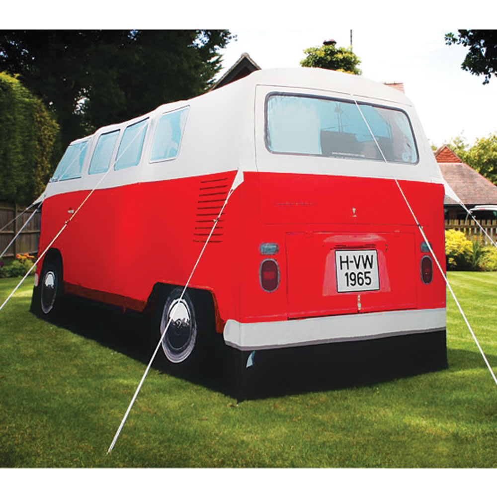 Vw Volkswagen T1 Cer Van Cing Tent Red By The Monster Factory