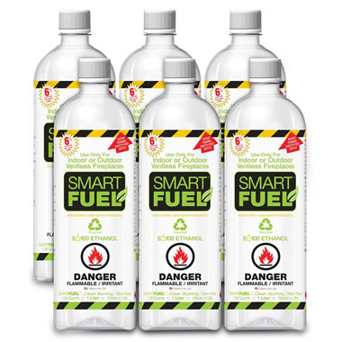 Six 1-Liter Smart Fuel Bottles