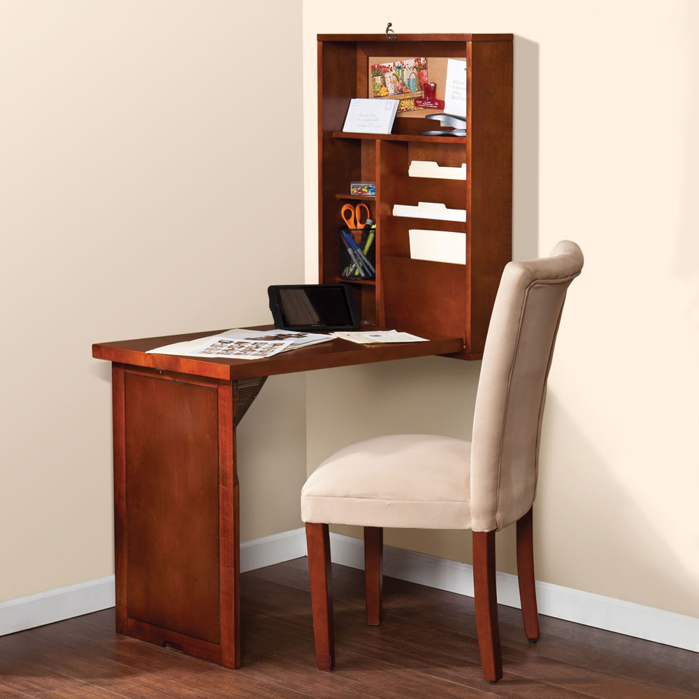 The Space Saving Foldout Desk Hammacher Schlemmer