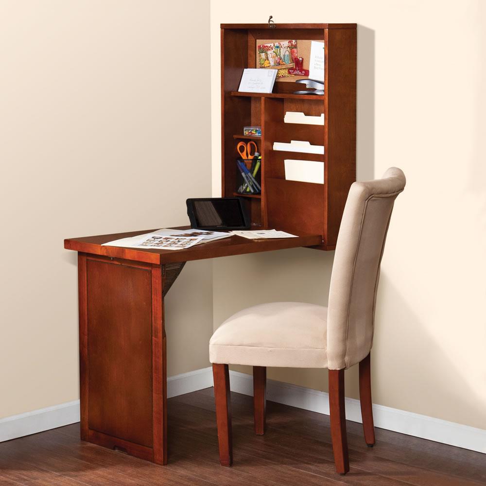 the space saving foldout desk hammacher schlemmer