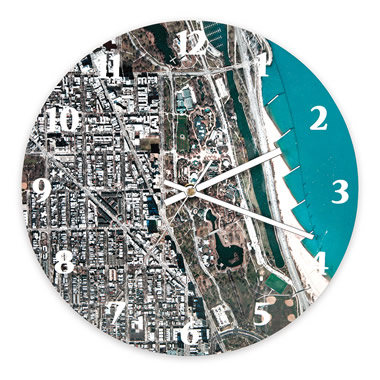 The Personalized Satellite Map Clock.