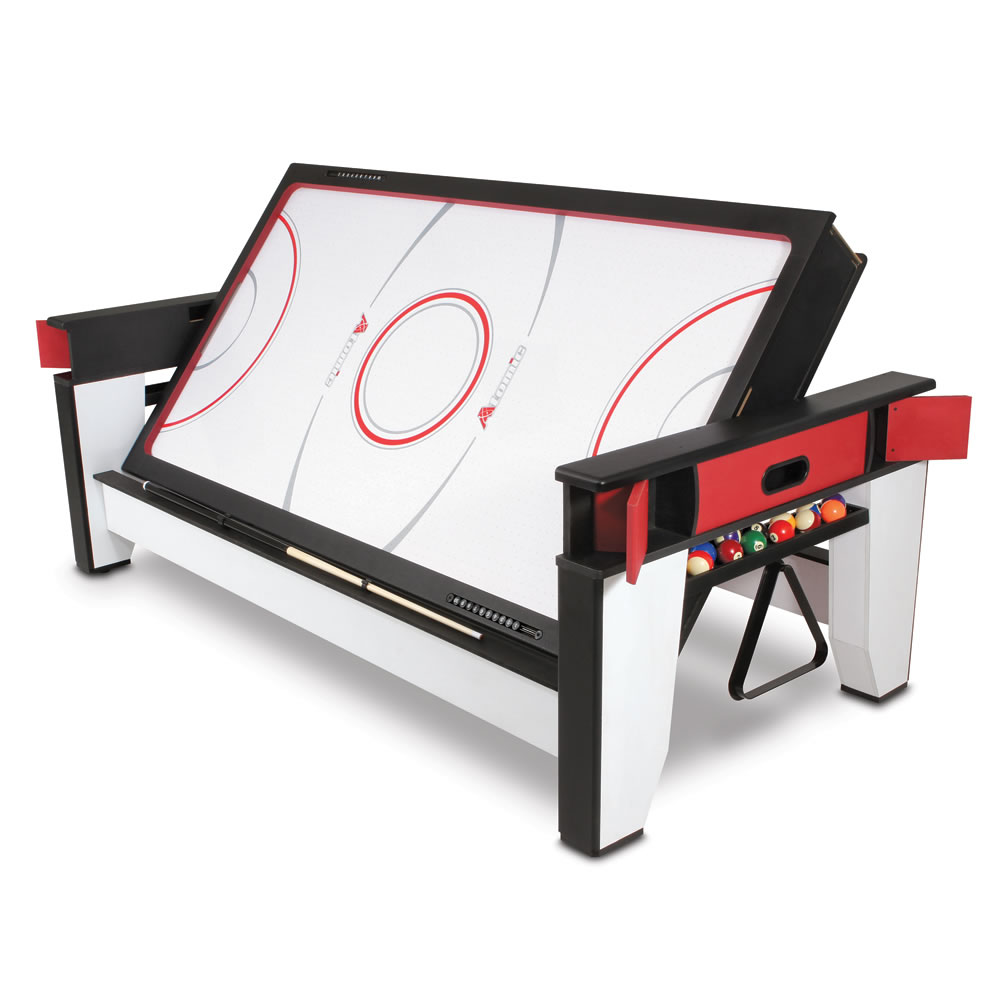The rotating air hockey to billiards table hammacher schlemmer - Dimension table de billard standard ...