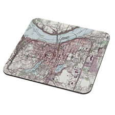 The Personalized Topographic Map Coasters