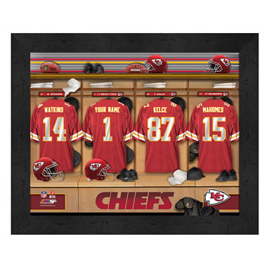 The Personalized NFL Locker Room Print