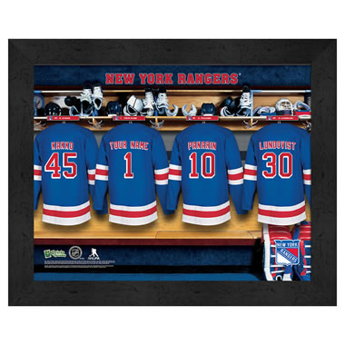 The Personalized NHL Locker Room Print