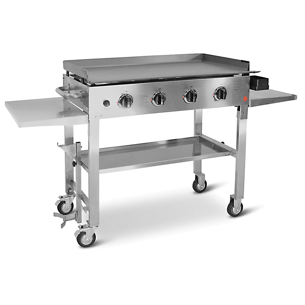 the backyard flat top grill hammacher schlemmer