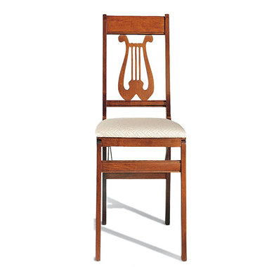 The Classic Lyre Pair of Folding Chairs.