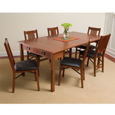 The Mission Style Console to Card to Dinner Table