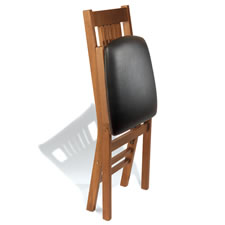 The Mission Style Pair of Matching Folding Chairs
