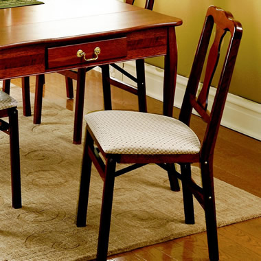 The Classic Queen Anne Pair of Folding Chairs