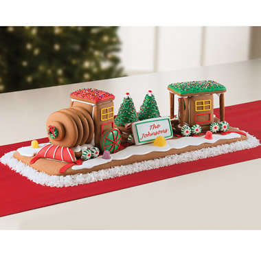 The Personalized Gingerbread Train