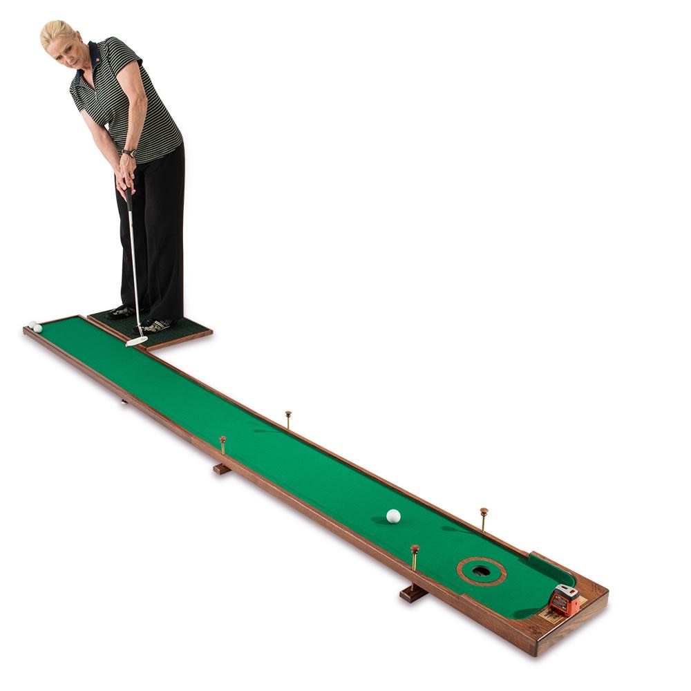 The Handcrafted Adjustable Putting Green Hammacher Schlemmer