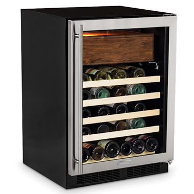 The Aficionado's Cigar Humidor And Wine Refrigerator