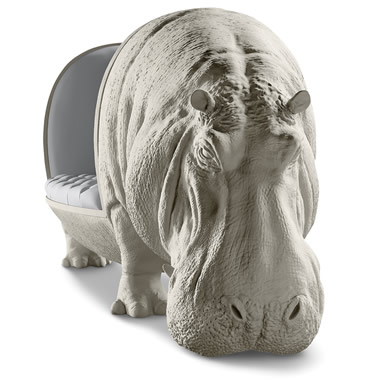 The Handcrafted Hippopotamine Sofa - Hippo's head shown
