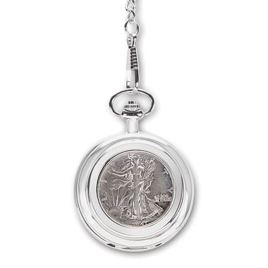 The Year Of Your Birth Half Dollar Pocket Watch
