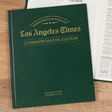 The Los Angeles Times Remember When Personalized Book