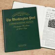 The Washington Post Remember When Personalized Book