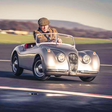 The Adult's Jaguar XK120 Mini Roadster - Man driving