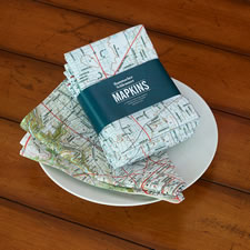 The Personalized Topographic Map Napkins