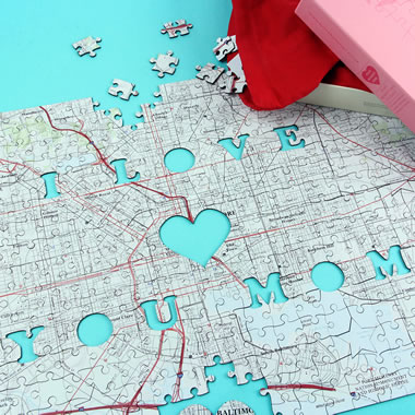 The I Love You Mom Personalized Map Puzzle