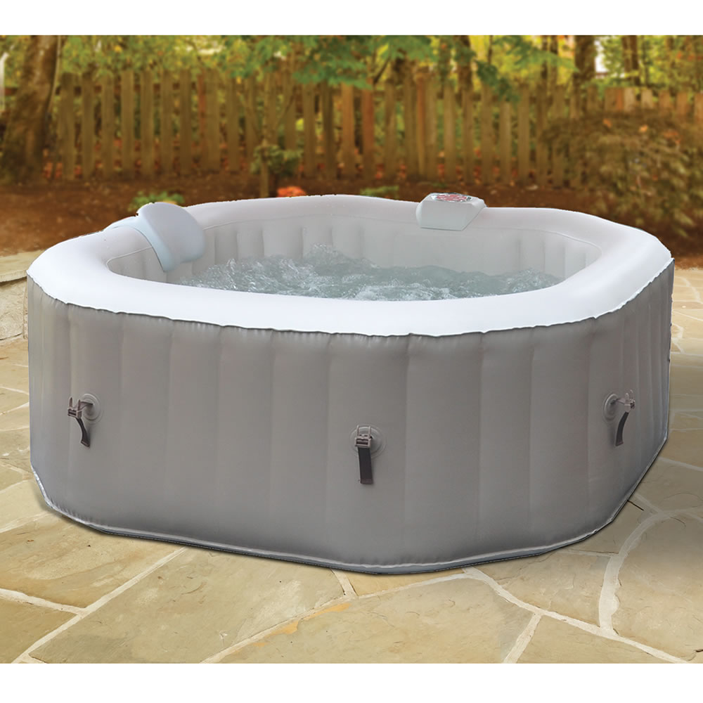 The Three Minute Inflatable Heated Whirlpool Spa - Hammacher Schlemmer