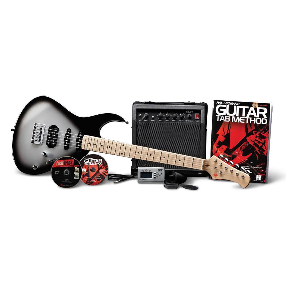 electric guitar starter pack hammacher schlemmer. Black Bedroom Furniture Sets. Home Design Ideas
