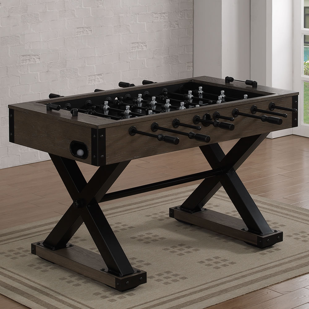 The Fashionable Foosball Table Hammacher Schlemmer - How much does a foosball table cost