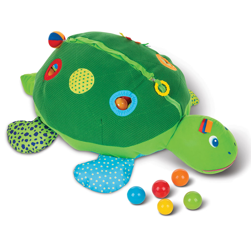 The Personalized Turtle Ball Playpen Hammacher Schlemmer