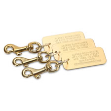 The Personalized Brass Luggage Tags