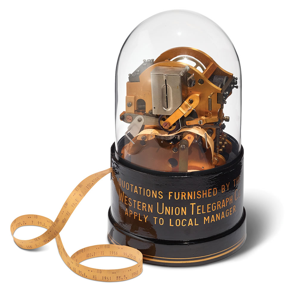 The Authentic Thomas Edison Stock Market Ticker Hammacher Schlemmer