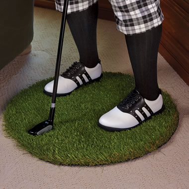 The Grass Mat For The Gentleman Golfer?s Side Table.