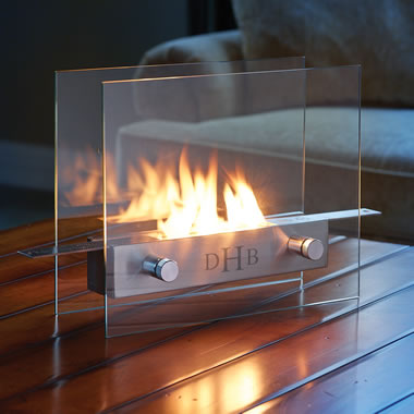The Monogrammed Tabletop Fireplace.