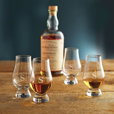 The Monogrammed Award Winning Glencairn Whiskey Glasses