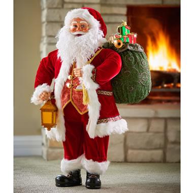 The Thomas Kinkade Reciting Personalized Santa