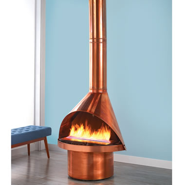 The Malm Ventless Copper Fireplace
