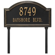 The Landmark Arched Address Lawn Plaque