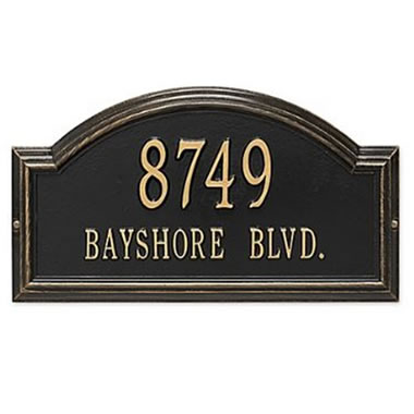 Historic Homes Address Plaque Prov Wall