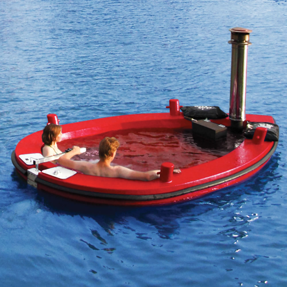 44a410192d The Amstel Hot Tub Tug - Hammacher Schlemmer