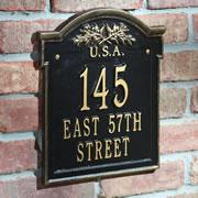 The Franklin Landmark Address Wall Plaque