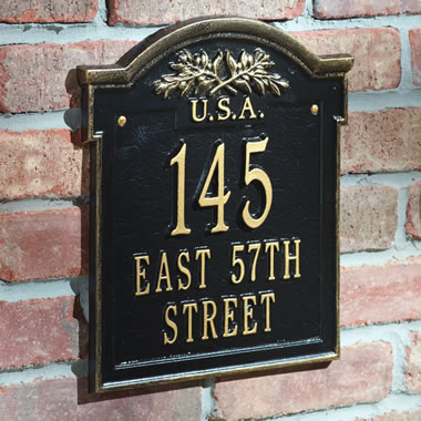 The Franklin Landmark Address Wall Plaque