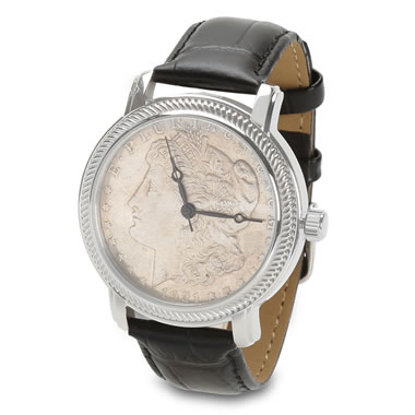 The Genuine Morgan Silver Dollar Watch (Obverse)
