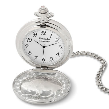 The Commemorative Indian Silver Coin Pocket Watch