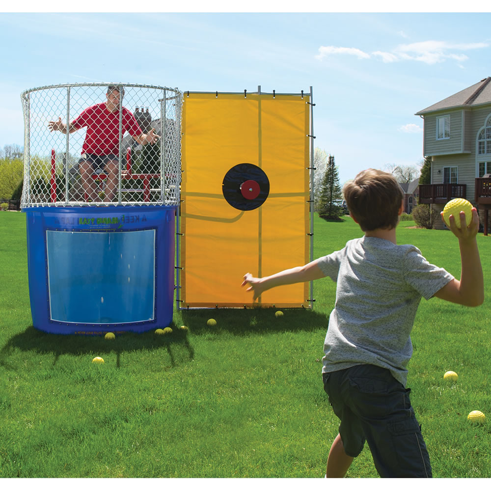 the backyard dunk tank hammacher schlemmer