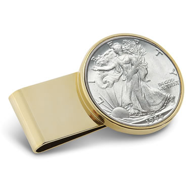 The Year Of Your Birth Half Dollar Money Clip