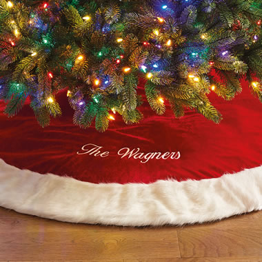 The Family Name Velour Tree Skirt