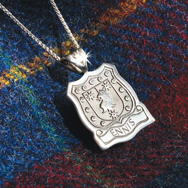 Shield Of Your Clan Sterling Silver Pendant Sil