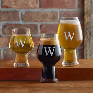The Monogrammed Flavor Enhancing Craft Beer Glasses