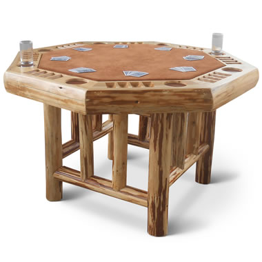 The Handcrafted Lodge Poker Table