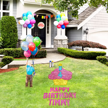 The Birthday Lawn Stencil Kit